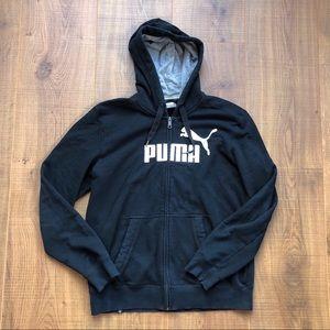 Puma black full zip up hoodie